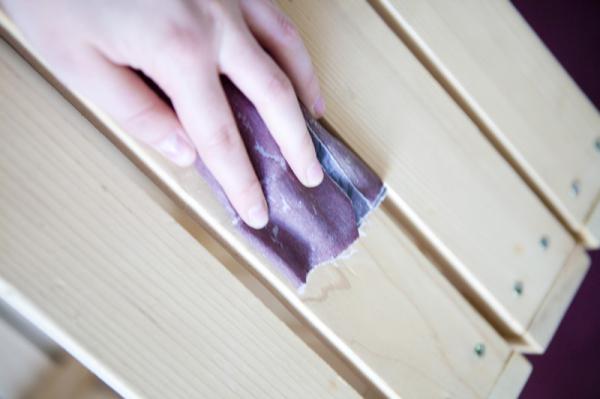 drewniana skrzynia DIY, zrób to sam