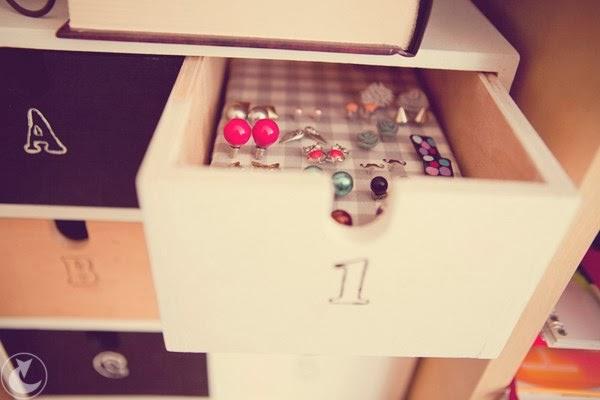 DIY organizacja kolczyków | zrób to sam blog