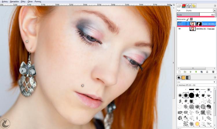 retusz skóry zdjęcia GIMP | jest-rudo.pl | fotografia makijażu