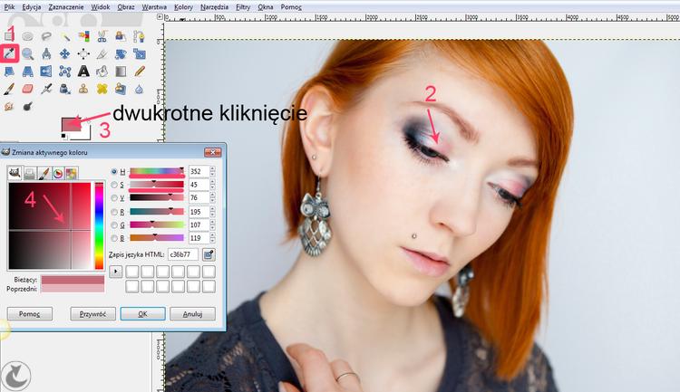 jak zrobić makijaż w gimpie