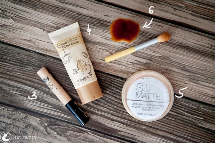 kosmetyki których używam: rimmel, skinfood, ecotools
