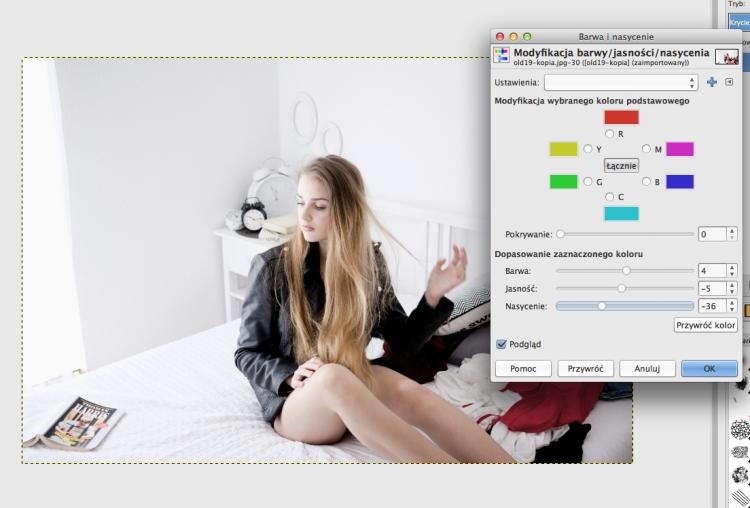 jak postarzyć zdjęcie w GIMPie