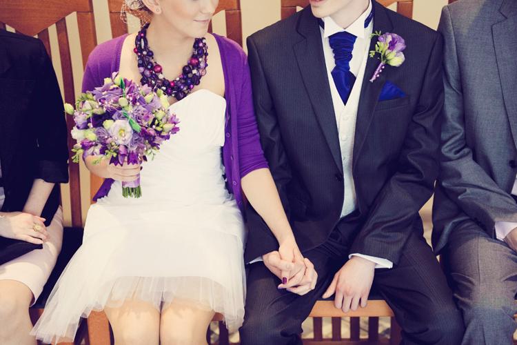 inspiracje ślubne fiolet