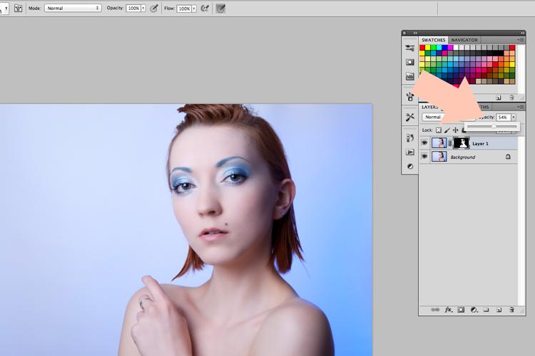 retusz twarzy photoshop