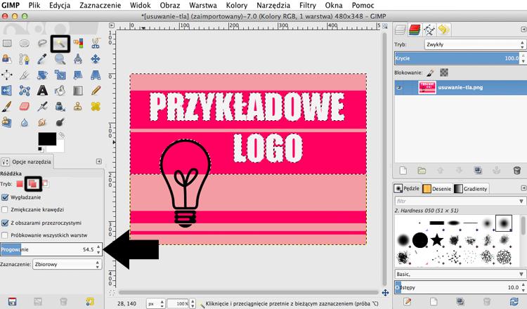 jak usunąć tło z obrazka zdjęcia i logo
