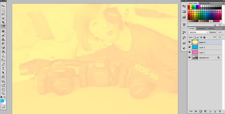 zdjęcia w stylu retro Photoshop Gimp