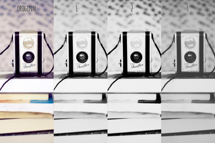czarno białe akcje Photoshop - darmowe filtry