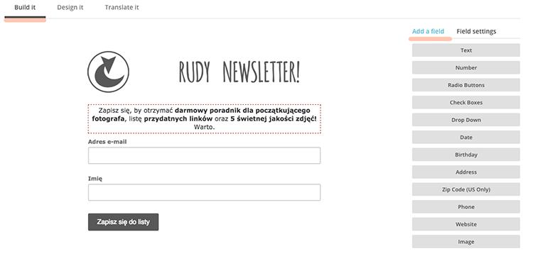 jak zrobić profesjonalny newsletter