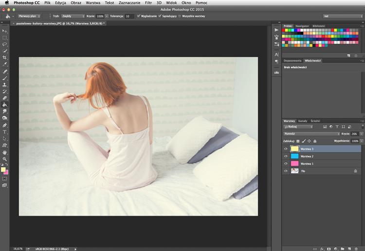 Photoshop pastelowe kolory