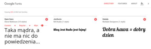 Darmowe fonty czcionki na bloga i stronę