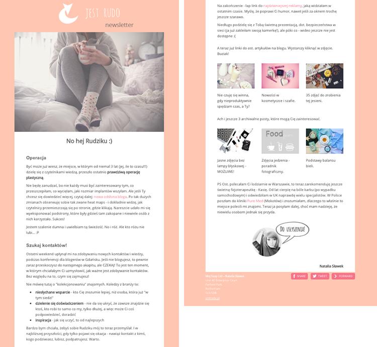 jak zrobić newsletter na blogu - poradnik