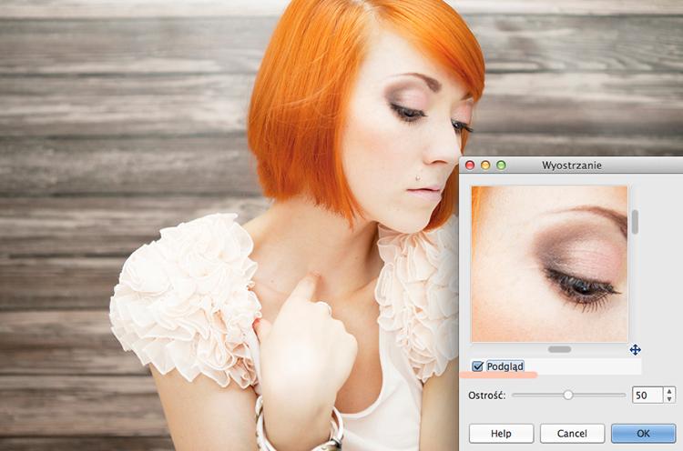 jak wyostrzyć zdjęcie w GIMP