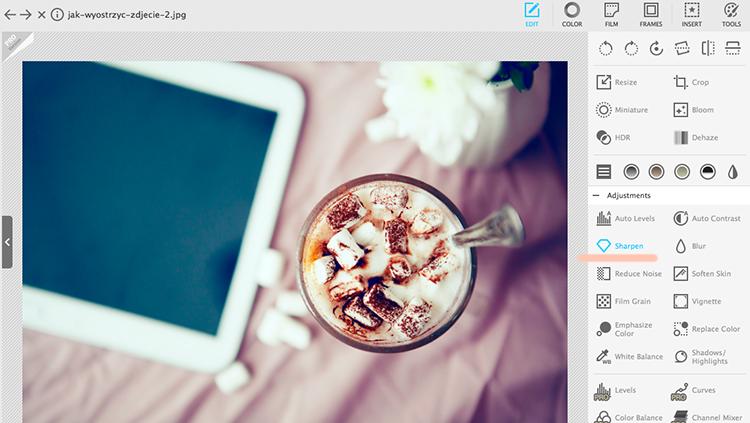 jak wyostrzyć zdjęcie w Photoscape poradnik
