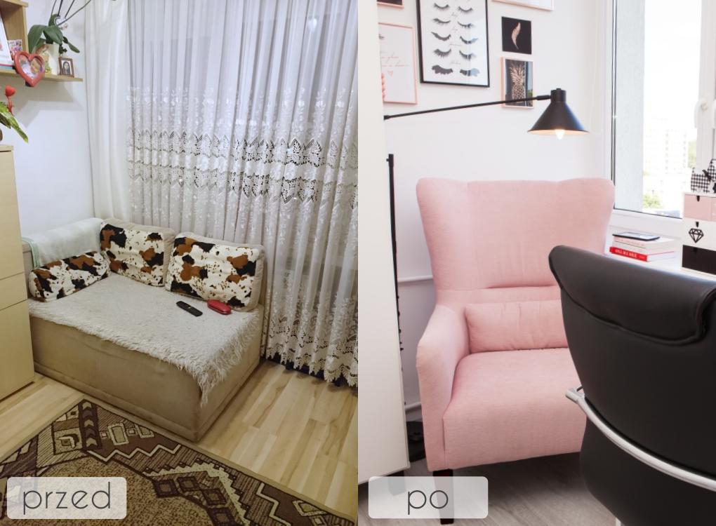 domowe biuro przed i po