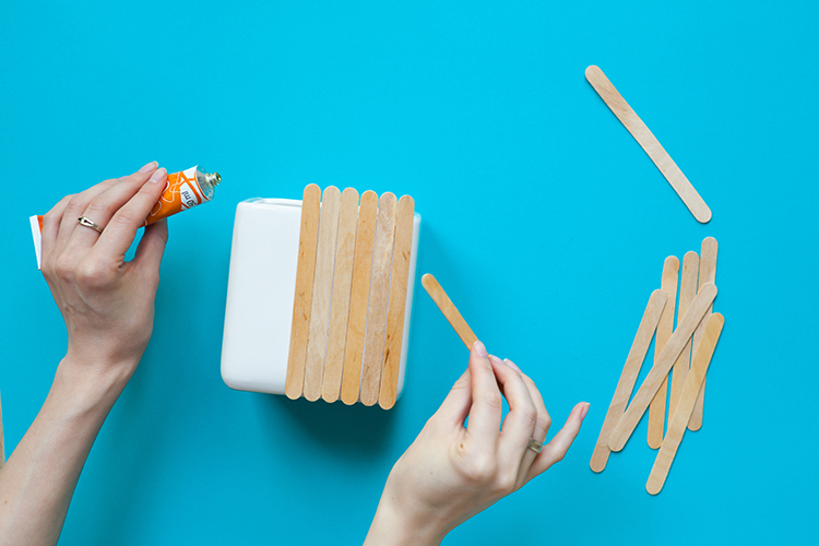 osłonka na doniczkę - zrób to sam DIY