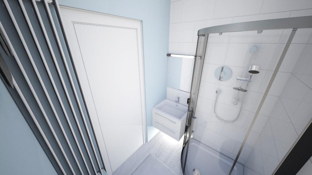 Mała łazienka w bloku - projekt
