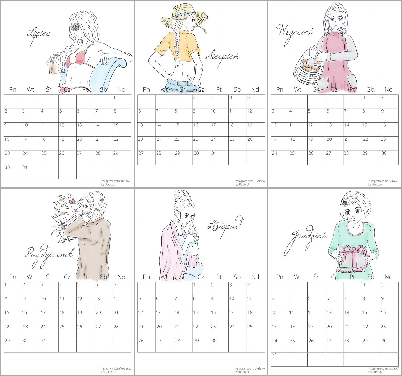 kalendarz do druku na 2018 rok
