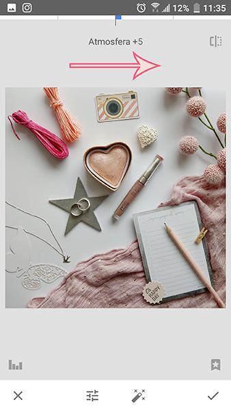 jak zrobić i edytować jasne zdjęcia na Instagram - Snapseed