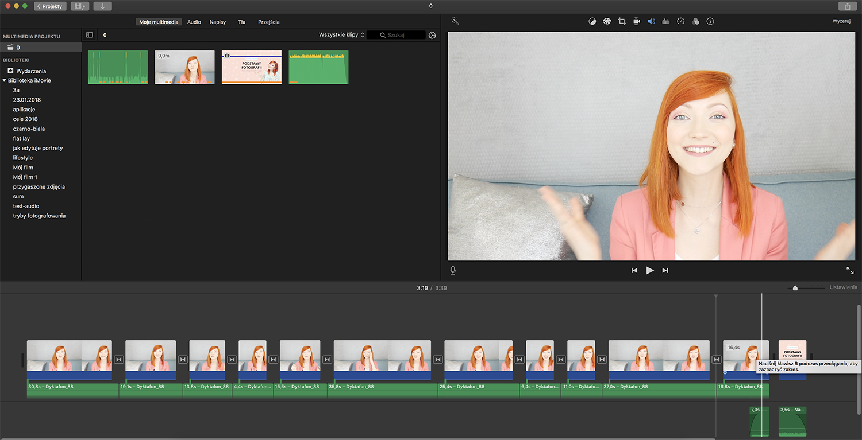 imovie - program do edycji wideo