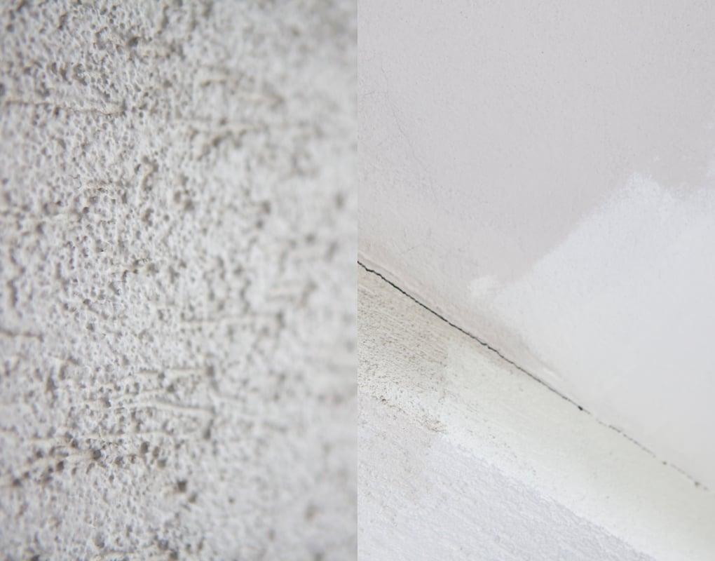 mały balkon w trakcie malowania